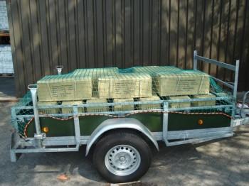 PE Anhängernetz, grün
