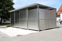 Mülltonnenhaus Inox 531 x 265 cm