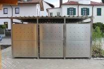 Mülltonnenhaus Inox 400 x 265 cm