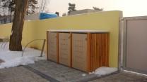 Mülltonnenbox mit Holzverkleidung 3 x 240 Liter