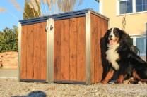 Mülltonnenbox Eiche Altholz 2 x 120 Liter