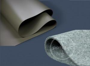 Polygard® PVC Teichfolie 1mm oliv-grün inkl. Vlies 500g/m²