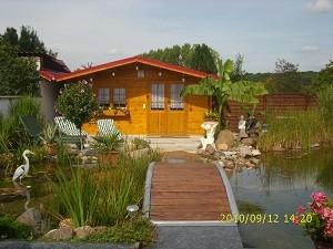 Gartenhaus am Teich