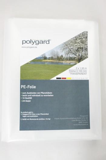 PE-Folie, transparent, 2 x 1,50 m; 0,100 mm