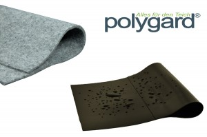 Polygard® PE-LD Teichfolie schwarz 0,50mm inkl. Vlies 300g/m²