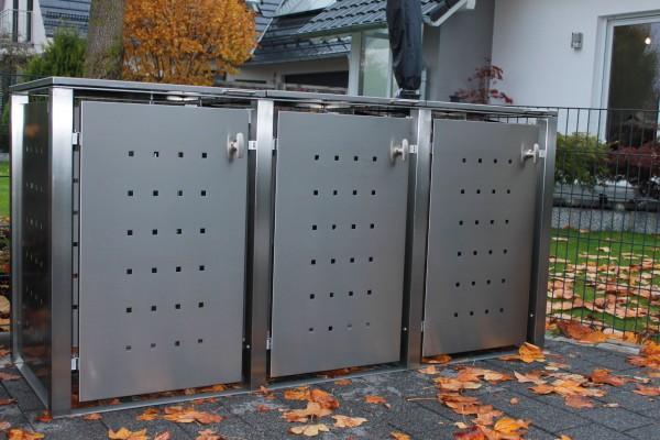 Mülltonnenboxen aus Edelstahl